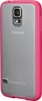 Insignia™ - Frosted Case for Samsung Galaxy S 5 Cell Phones - Clear/Pink