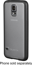 Insignia™ - Frosted Case for Samsung Galaxy S 5 Cell Phones - Clear/Black