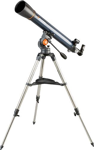 Celestron - AstroMaster 90AZ Refractor Telescope - Silver