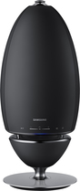 Samsung - Ambient Solo Bluetooth Speaker - Dark Gray/White