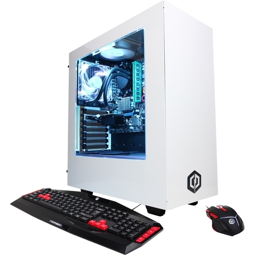 CyberPowerPC - Gamer Supreme Desktop - Intel Core i7 - 32GB Memory - Nvidia GeForce GTX 1080 - 480GB Solid State Drive + 3TB Hard Drive - White
