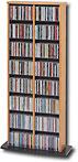 PREPAC - Double-Tower Multimedia Storage Rack - Oak