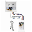 PowerBridge - In-Wall Power and Cable Management Kit for Most Wall-Mounted HDTVs - White