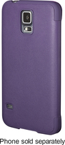Platinum - Leather Flip Case for Samsung Galaxy S 5 Cell Phones - Purple
