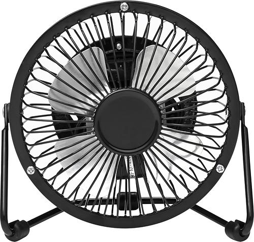 "Insignia™ - 4"" High-Velocity Personal Fan - Black"
