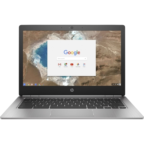 HP - 13.3 Chromebook - Intel Pentium - 4GB Memory - 32GB Solid State Drive - Silver