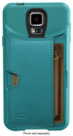 CM4 - Q Card Case for Samsung Galaxy S 5 Cell Phones - Pacific Green