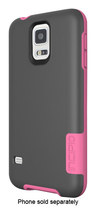 Incipio - [OVRMLD] Flexible Hard Shell Case for Samsung Galaxy S 5 Cell Phones - Gray/Pink