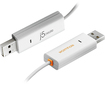 j5 create - Easy Mac/PC 5.9' USB-to-USB Cable with Wormhole - White