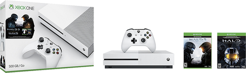 Microsoft - Xbox One S 500GB Console Halo Collection Bundle
