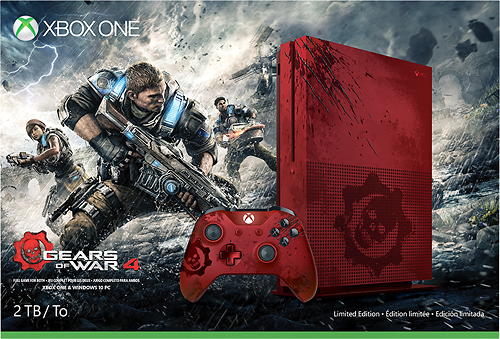 Microsoft Xbox One S 2TB Console Gears of War 4 Limited Edition Bundle
