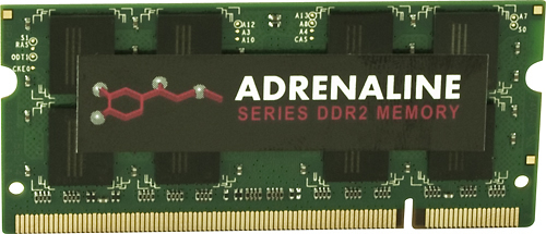 VisionTek - Adrenaline Series 2GB PC2-6400 DDR2 Laptop Memory - Multi