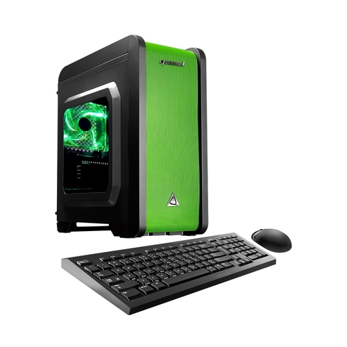 CybertronPC - Electrum Desktop - AMD A6-Series - 16GB Memory - 1TB Hard Drive - Green