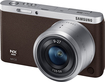 Samsung - NX Mini Mirrorless Camera with 9-27mm Lens - Brown