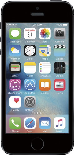 At&t GoPhone - Apple iPhone 5s 4G LTE with 16GB Memory Prepaid Cell Phone - Gray