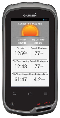 Garmin - Monterra 4 GPS with Built-In Bluetooth - Black/Gray