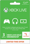 Microsoft - Xbox Live 3+1 Month Gold Membership - Green