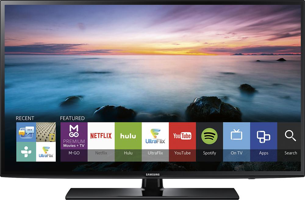 "Samsung - 60"" Class (60"" Diag.) - LED - 1080p - Smart - HDTV - Black"