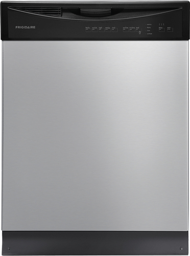 "Frigidaire - 24"" Tall Tub Built-In Dishwasher - Stainless Steel"