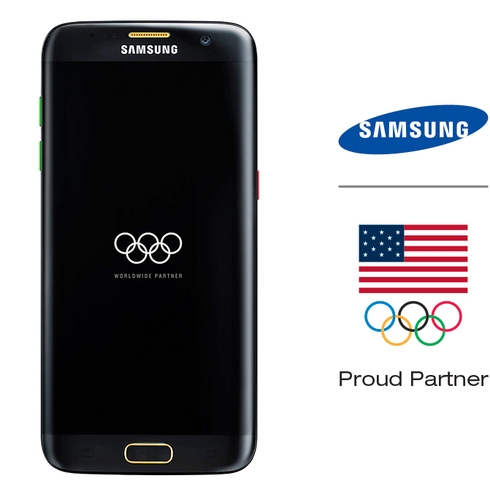 Samsung - Galaxy S7 edge Olympic Games Limited Edition 32GB (Unlocked) - Black Onyx