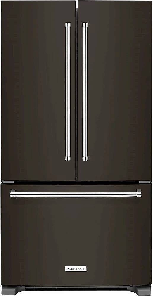 KitchenAid   20 Cu. Ft. French Door Counter Depth Refrigerator   Black  Stainless Steel At Pacific Sales