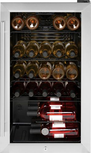GE - 30-Bottle Wine Center - Black
