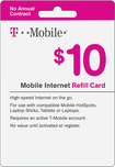 T-Mobile - $10 Top-Up Prepaid Mobile Internet Card - White