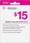 T-Mobile - $15 Top-Up Prepaid Mobile Internet Card - White
