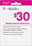T-Mobile - $30 Top-Up Prepaid Mobile Internet Card - White