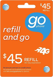AT&T GoPhone - $45 Top-Up Prepaid Card - Orange