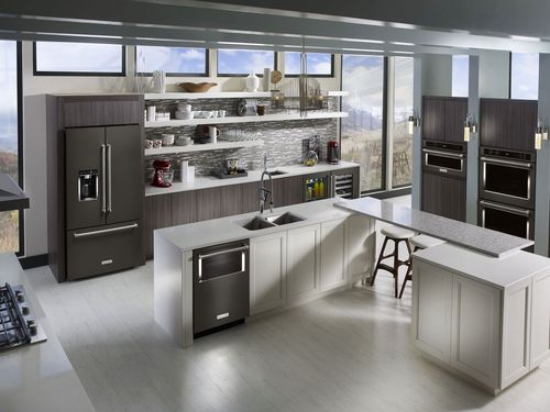 kitchenaid 238 cu ft french door black stainless