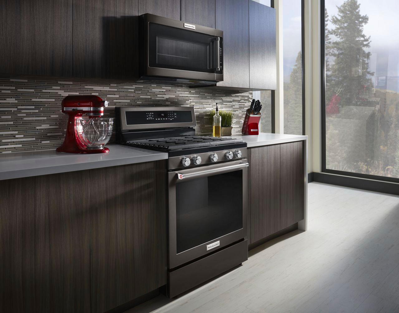 Kitchenaid 2 0 Cu Ft Over The Range Microwave With Sensor