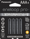 Panasonic - eneloop pro Rechargeable AAA Batteries (4-Pack) - Black