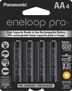 Panasonic - eneloop pro Rechargeable AA Batteries (4-Pack) - Black