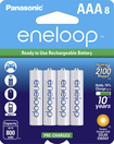 Panasonic - eneloop Rechargeable AAA Batteries (8-Pack) - White