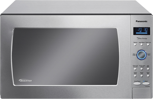 Panasonic - 1.6 Cu. Ft. Full-Size Microwave - Stainless-Steel