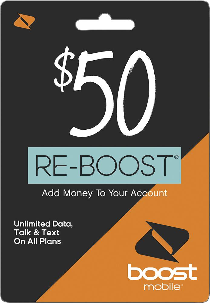 Boost Mobile - Re-boost $50 Prepaid Phone Card 5481200