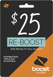 Boost Mobile - Re-boost $25 Prepaid Phone Card