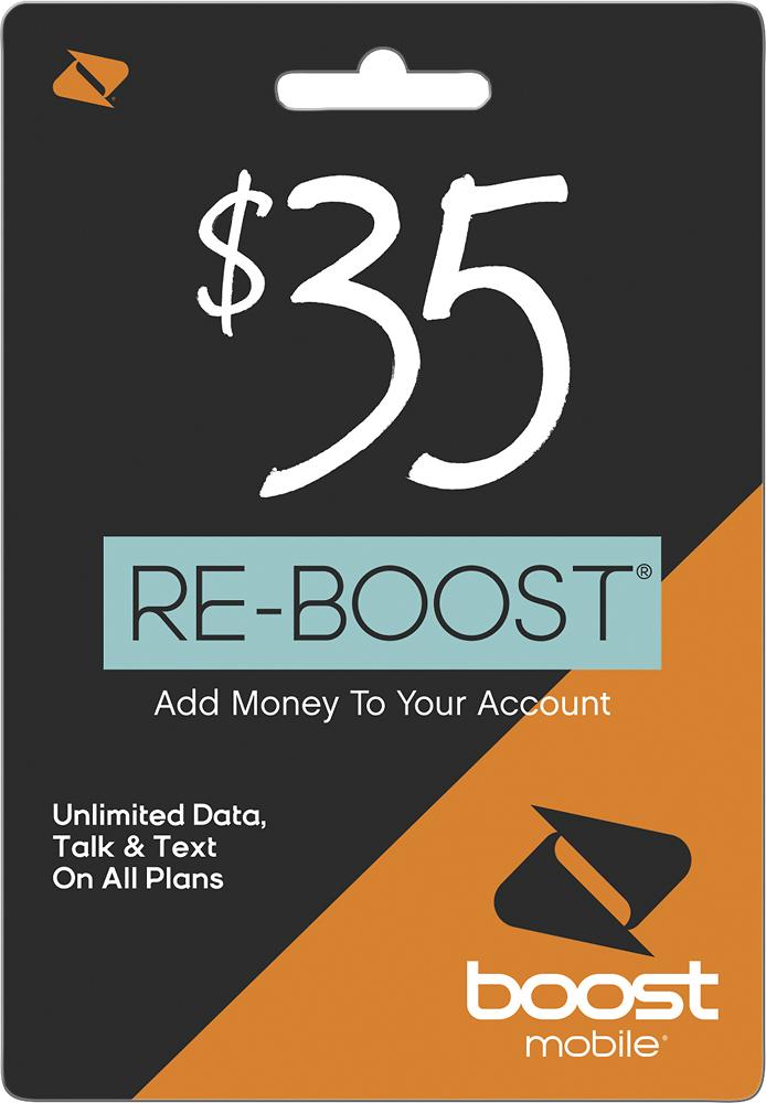 Boost Mobile - $35 Re-boost Prepaid Phone Card