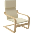 Corliving - Aquios Bentwood High Back Armchair - Warm White 5495565