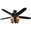 "Hunter - Cortland 53.9"" Ceiling Fan - Basque Black With Brus"
