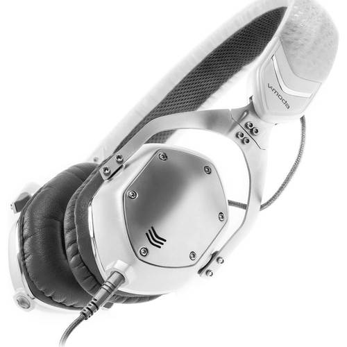 V-Moda - XS On-Ear Headphones - White/Silver