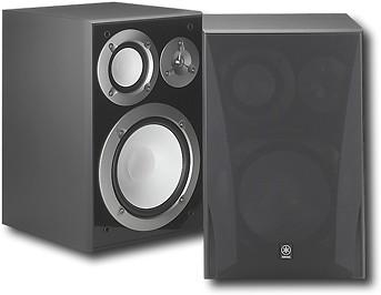 Yamaha - 8 3-Way Bookshelf Speakers (pair) - Black