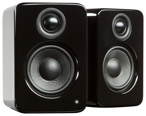 Kanto - YU2 3 2-Way Powered Desktop Speakers (Pair) - Gloss Black