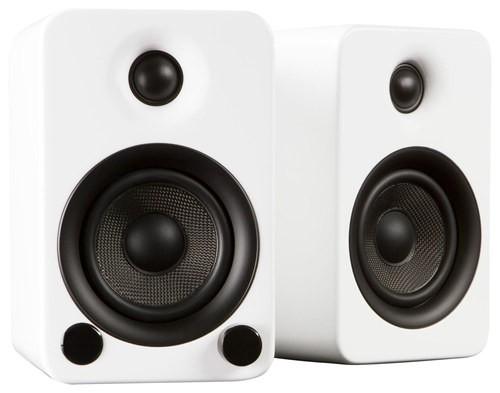 Kanto - YU3 4 60W 2-Way Powered Bookshelf Speakers (Pair) - Gloss White