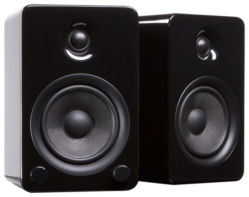 Kanto - YU5 5.25 80W 2-Way Bookshelf Speakers (Pair) - Gloss Black
