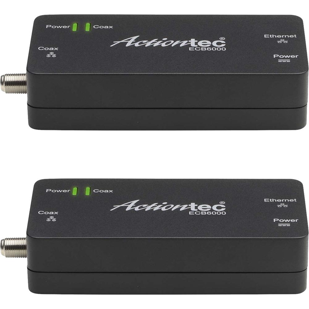 Actiontec - Moca 2.0 Network Adapter 2-pack - Black