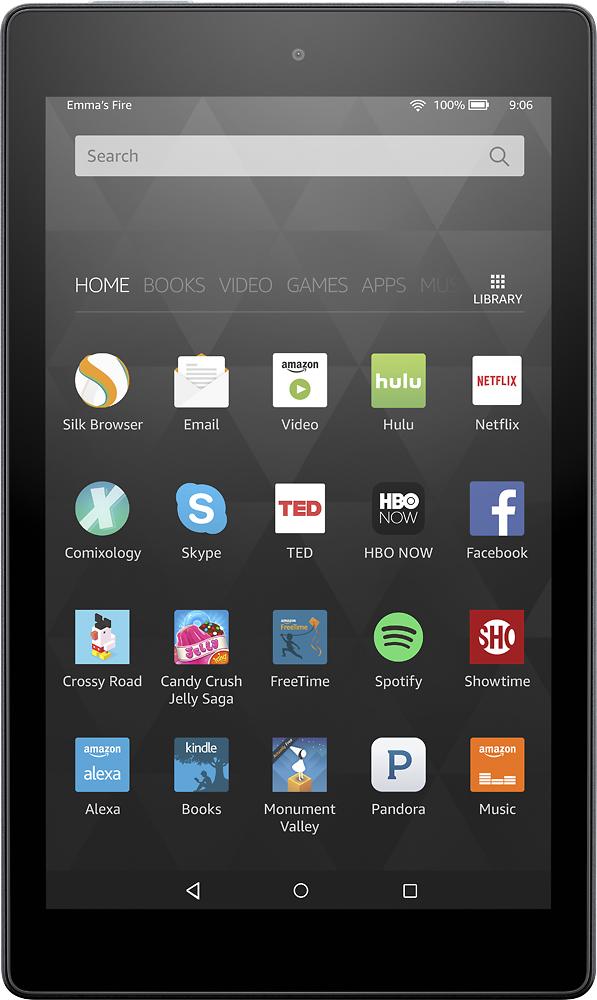 """Amazon - Fire Hd8 - 8"""" - Tablet - 16gb - Wi-fi - Black"""