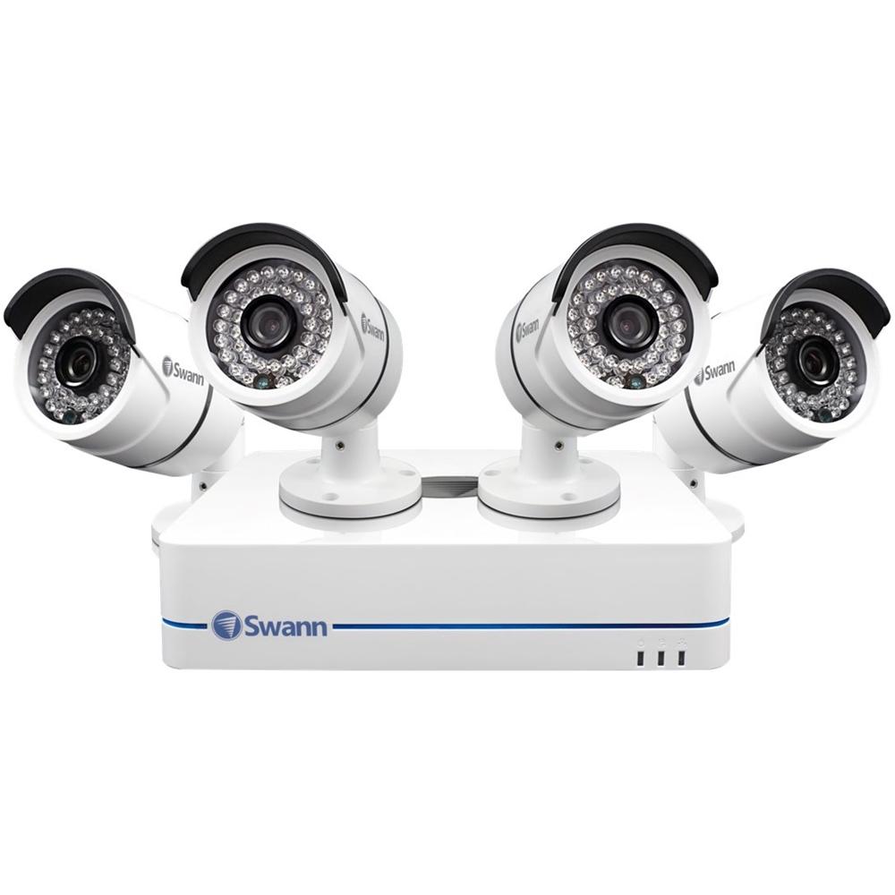 Swann - 8-Channel, 4-Camera Indoor/Outdoor Wired