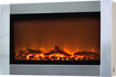 Fire Sense - Wall-Mounted Electric Fireplace - Stainless-Steel
